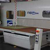 New CMS FXB CNC Router for production of stacked aluminium parts